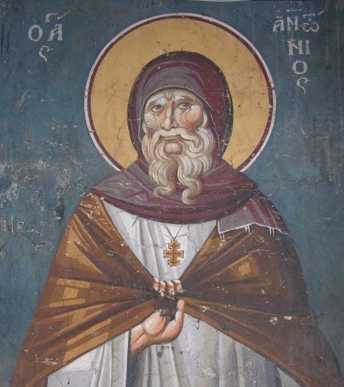 Ohrid, Kirche der Muttergottes Peribleptos, Hl. Antonius / Ohrid, Peribleptos Church, St. Anthony